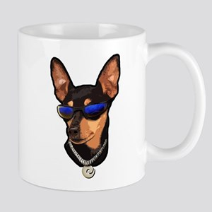 miniature_pinscher_head Mugs